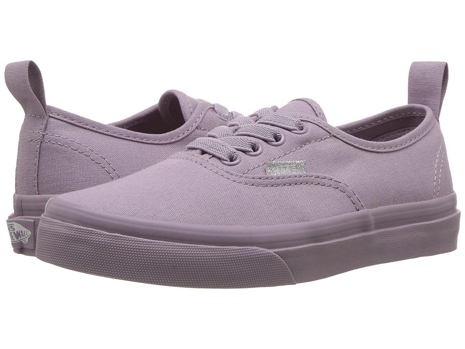 Vans Kids Authentic Elastic Lace (Little Kid/Big Kid) ((Mono) Sea Fog) Girls Shoes