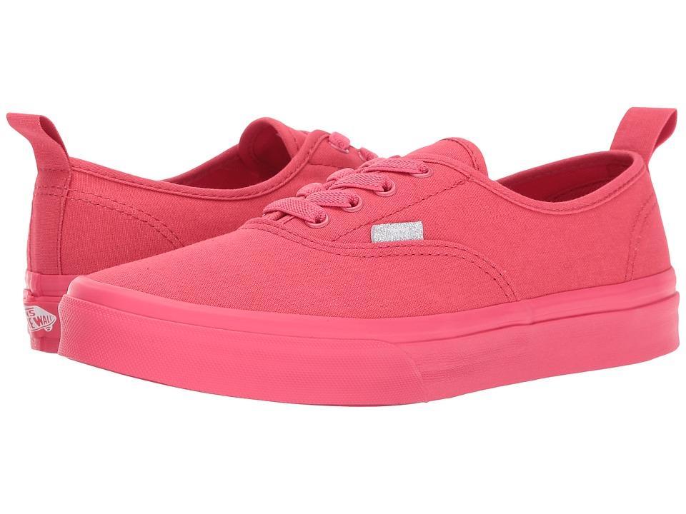 Vans Kids Authentic Elastic Lace (Little Kid/Big Kid) ((Mono) Paradise Pink) Girls Shoes