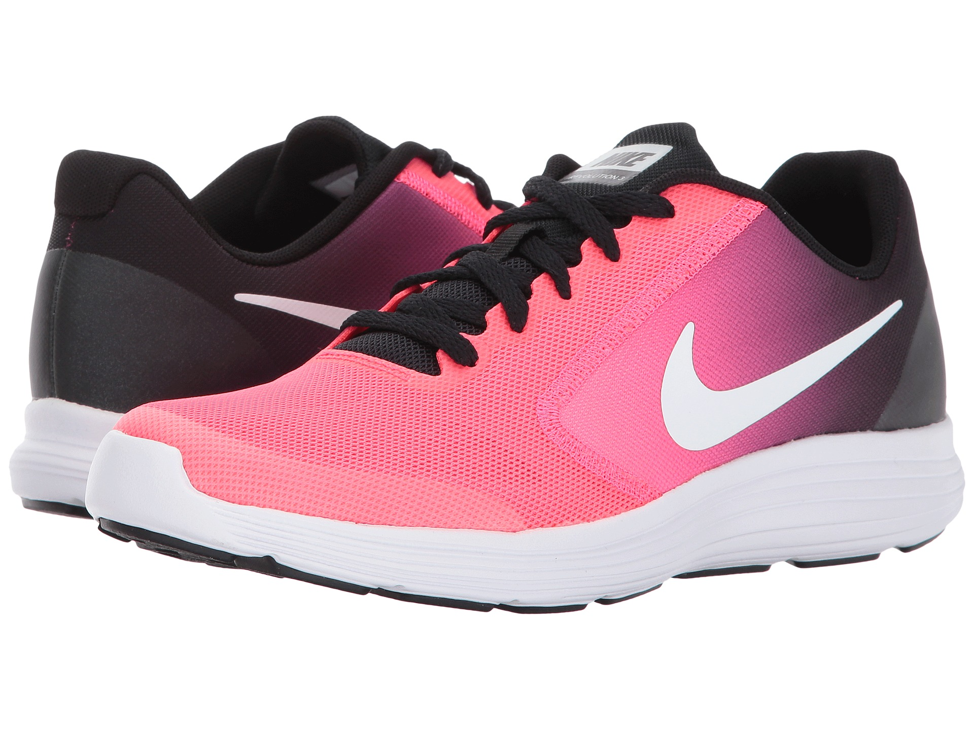 Nike Shoes Pink And Black Reveloution