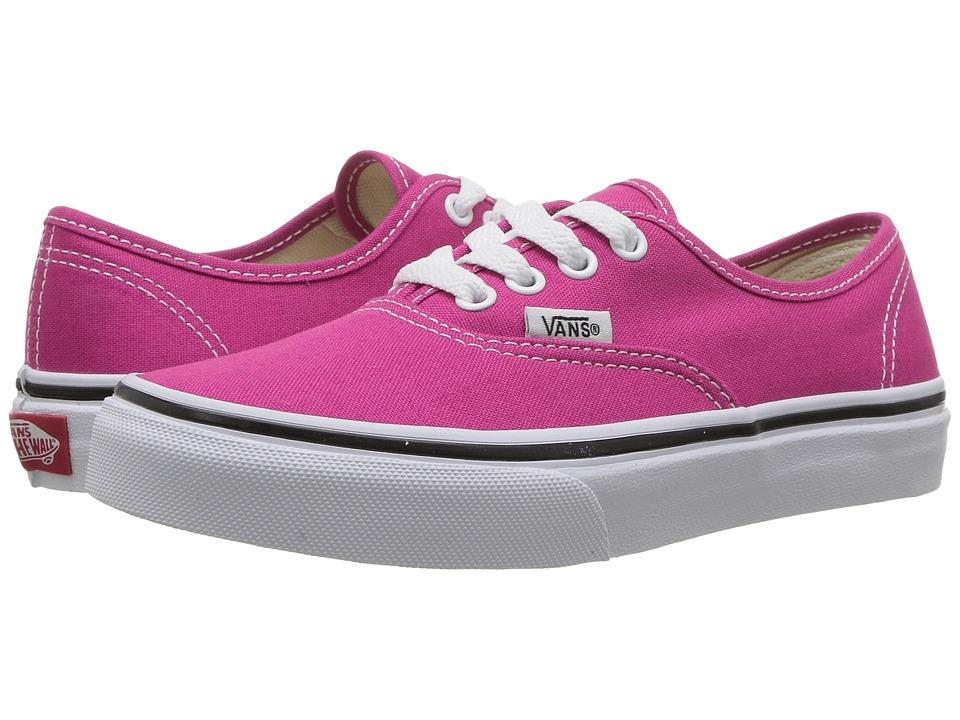 Vans Kids Authentic (Little Kid/Big Kid) (Very Berry/True White) Girls Shoes