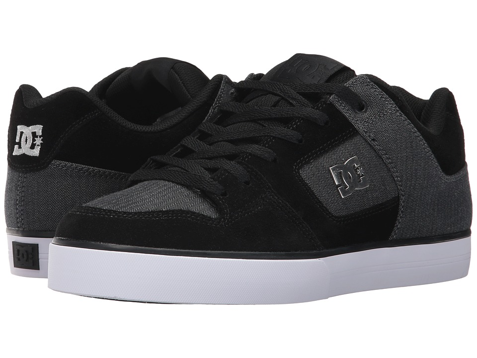 DC - Pure SE (Black/Charcoal) Mens Skate Shoes
