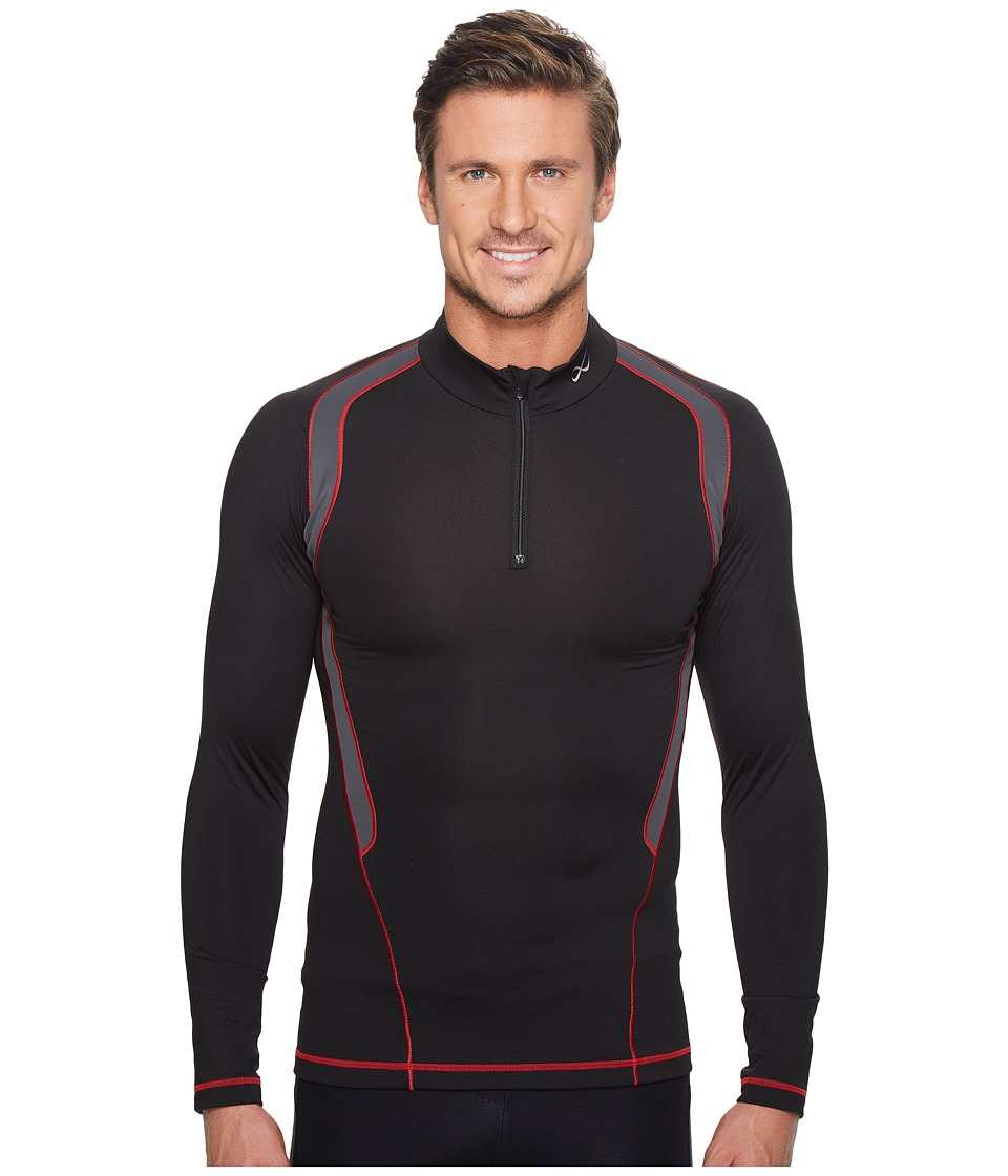 CW-X - Long Sleeve Insulator Web Top (Black/Grey/Red) Mens Workout