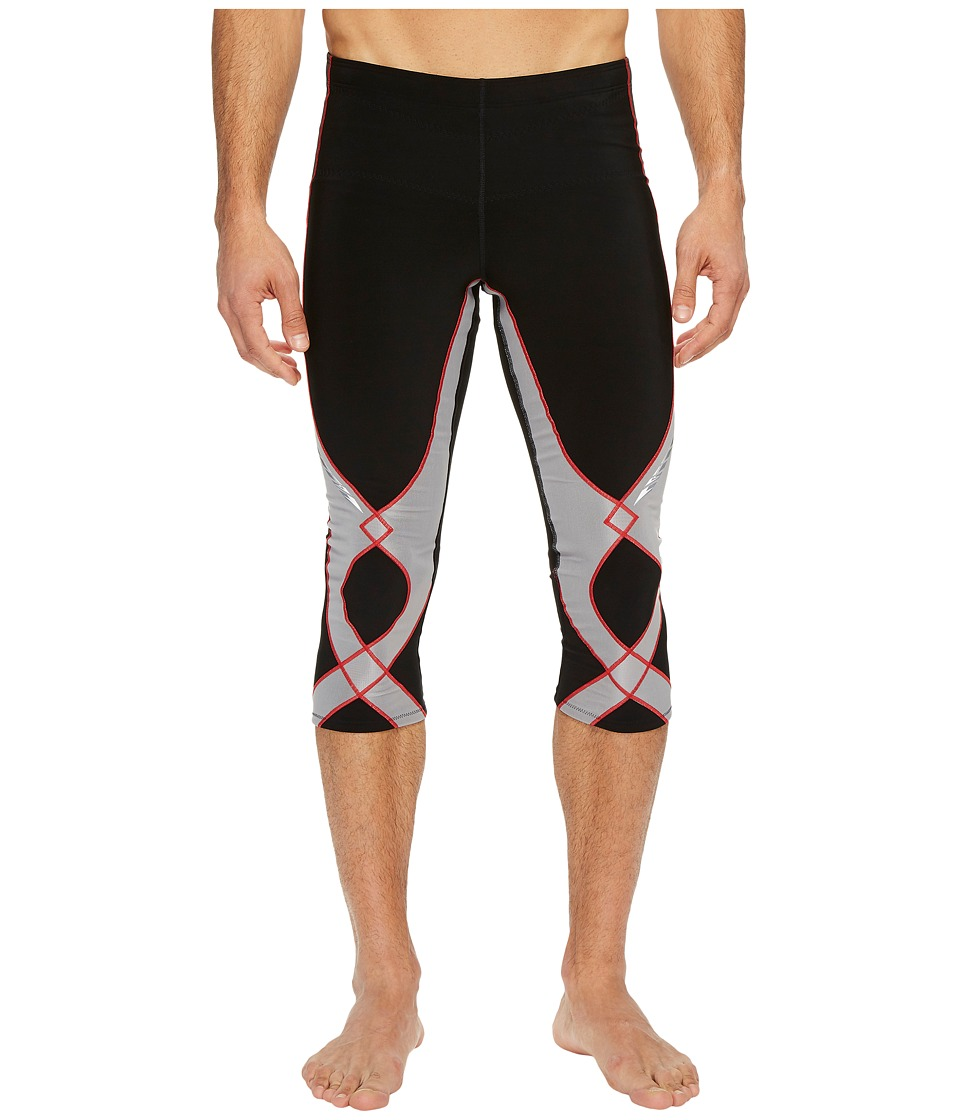 CW-X Insulator Stabilyx 3/4 Tights (Black/Light Grey/Red) Men
