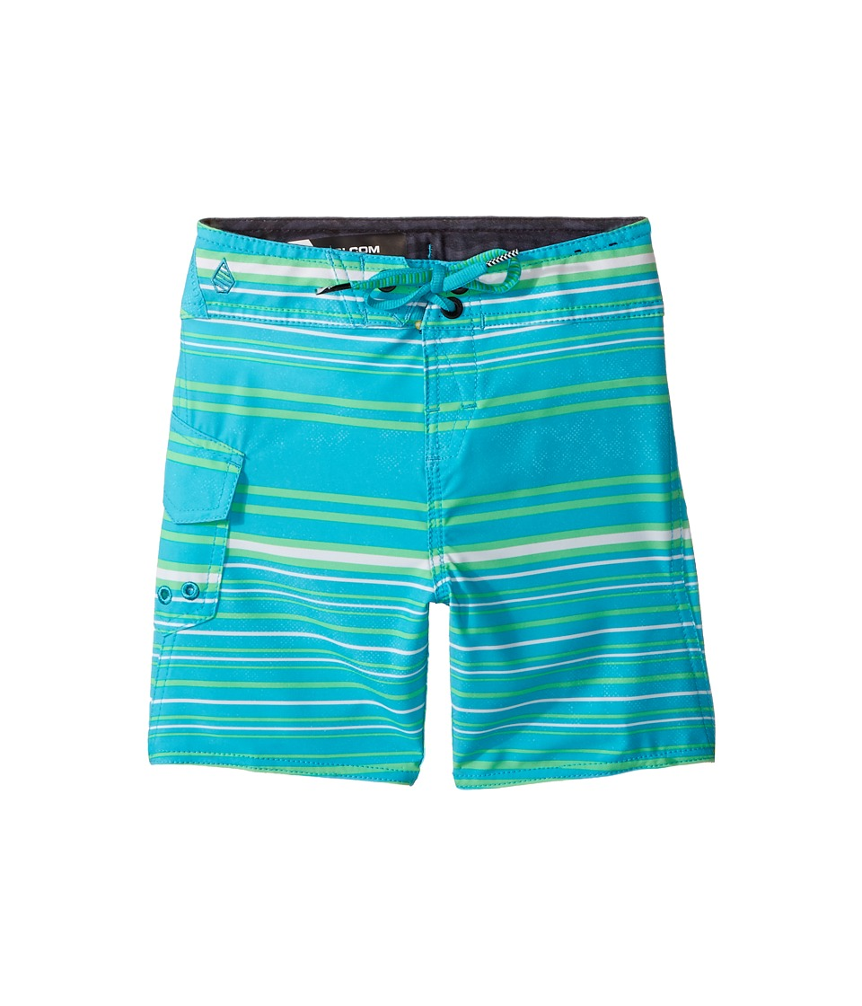 Volcom Kids Magnetic Liney Mod Boardshorts (Toddler/Little Kids) (Aqua) Boy