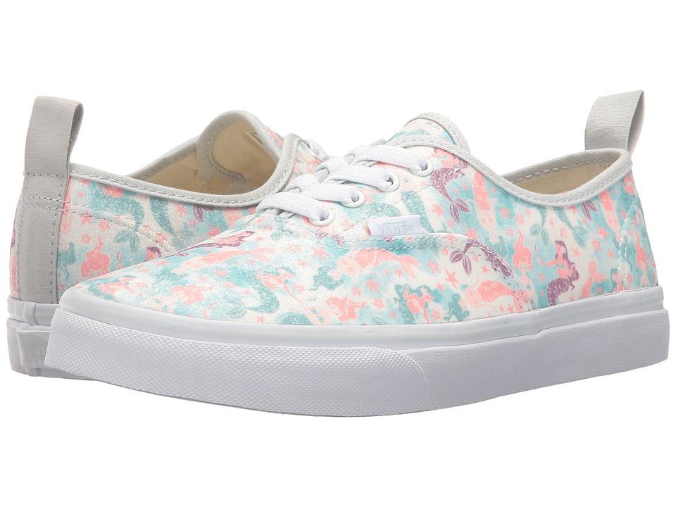 Vans Kids Authentic Elastic Lace (Little Kid/Big Kid) ((Mermaid) Ice Flow/Glitter) Girls Shoes