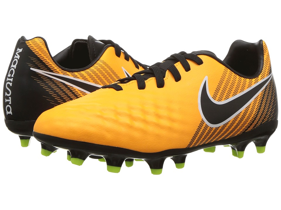 Nike Kids Magista Onda II Firm Ground Soccer (Toddler/Little Kid/Big Kid) (Laser Orange/Black/White/Volt) Kids Shoes