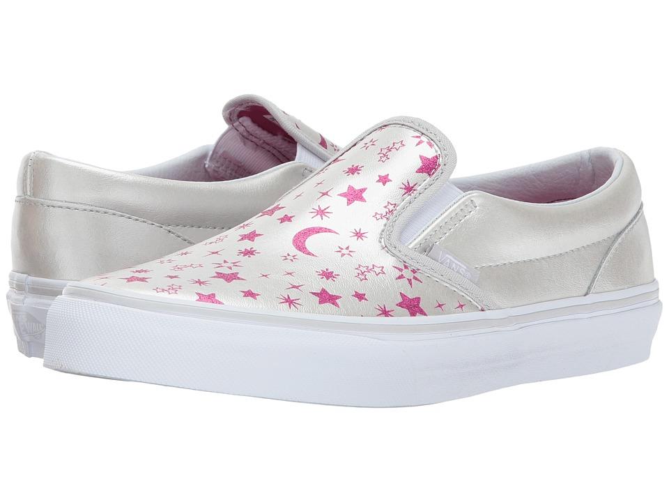 Vans Kids Classic Slip-On (Little Kid/Big Kid) ((Star Glitter) Micro Chip/Glitter) Girls Shoes