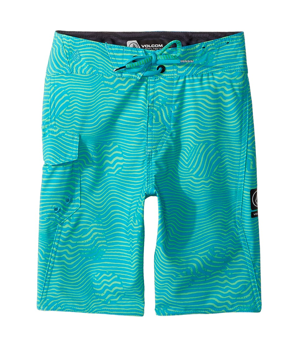 Volcom Kids Magnetic Stone Mod Boardshorts (Big Kids) (Aqua) Boy