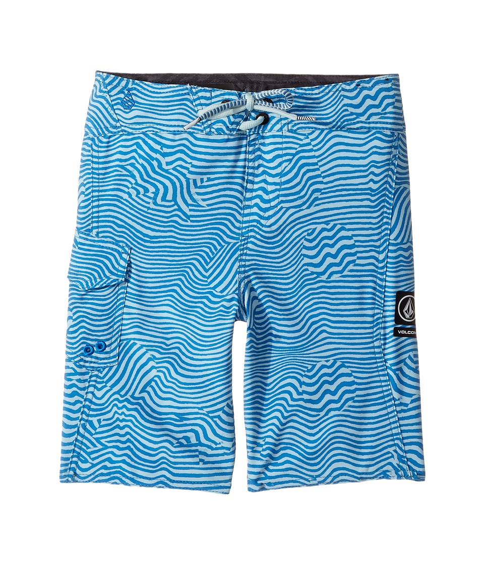 Volcom Kids Magnetic Stone Mod Boardshorts (Toddler/Little Kids) (Mayan Blue) Boy