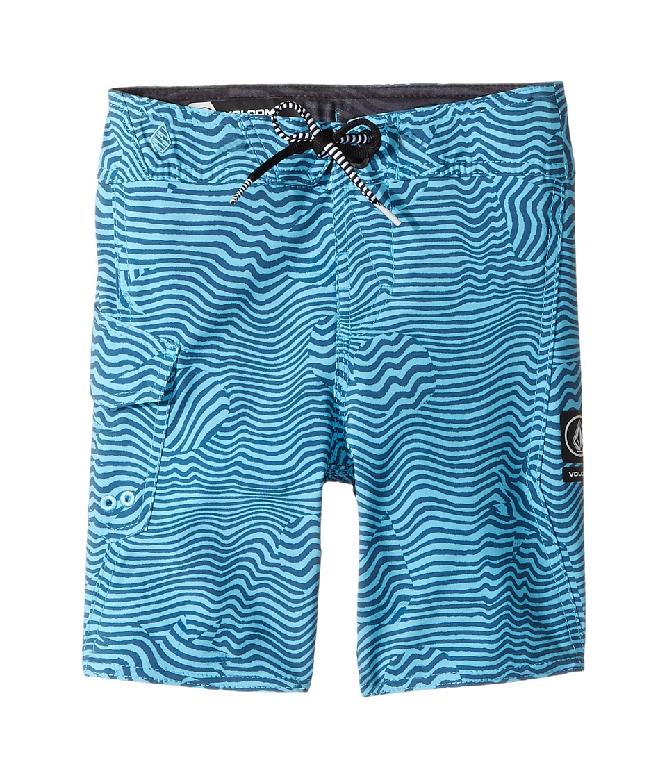 Volcom Kids Magnetic Stone Mod Boardshorts (Toddler/Little Kids) (Dusty Aqua) Boy
