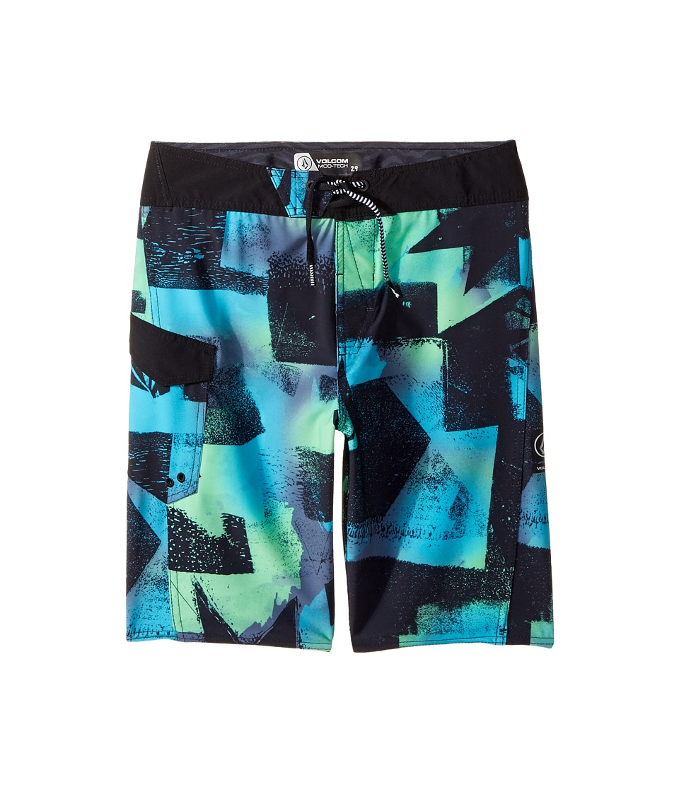 Volcom Kids Costa Paste Up Mod Boardshort (Big Kids) (Aqua) Boy
