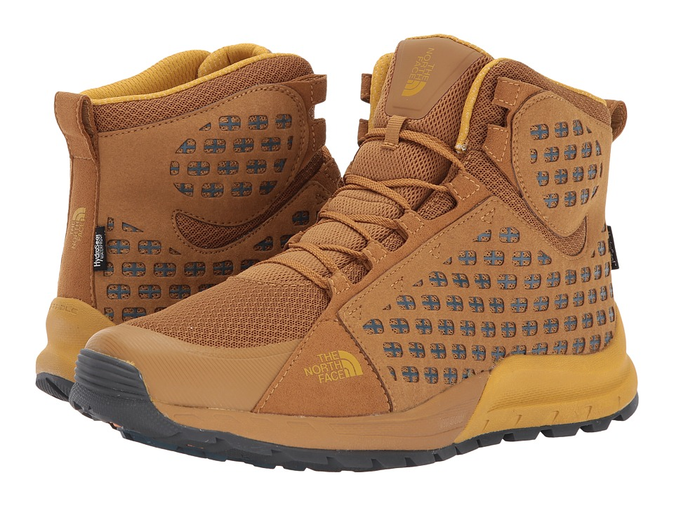 The North Face Mountain Sneaker Mid WP (Golden Brown/Arrowwood Yellow) Men