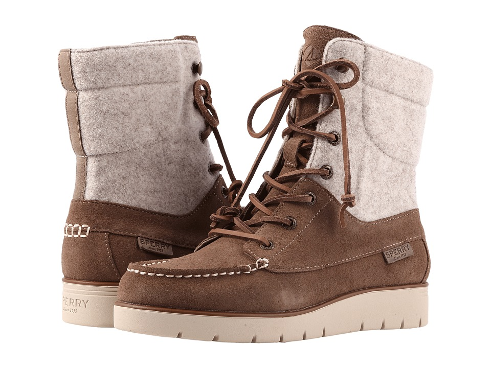 Sperry Azur Hatch Waterproof Suede (Taupe) Women