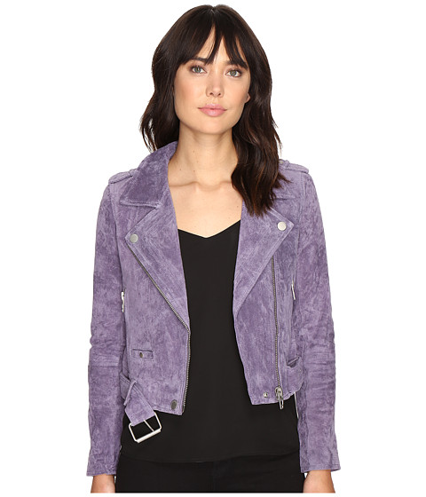 Blank NYC Real Suede Moto Jacket in Purple Haze - Purple Haze