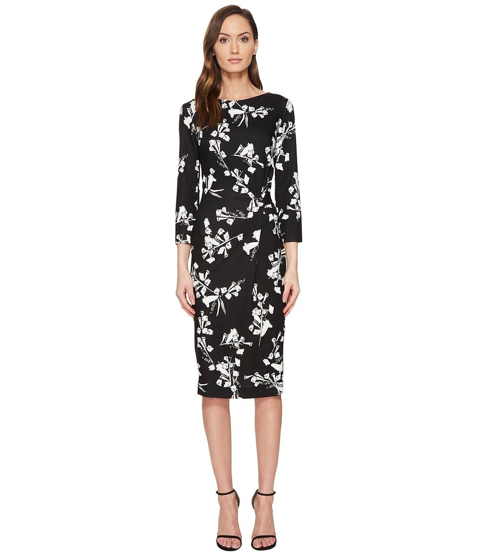 ESCADA - Dassiva Floral Long Sleeve Wrap Dress