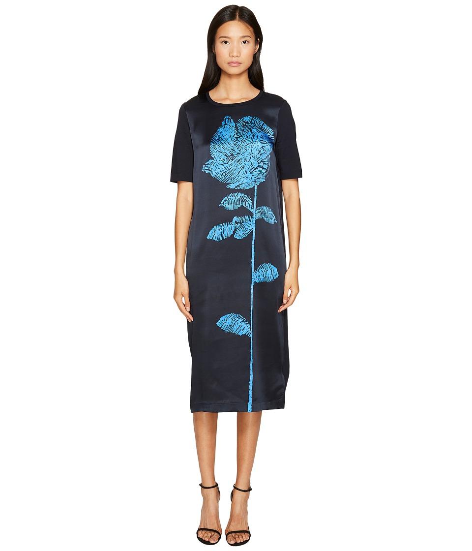 ESCADA - Deraffia Short Sleeve Flower Dress