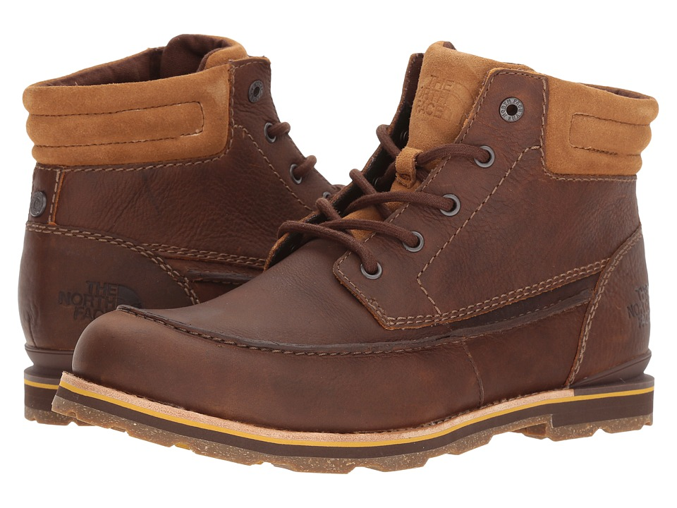 The North Face - Bridgeton Chukka (Bone Brown/Arrowwood Yellow) Mens Lace-up Boots