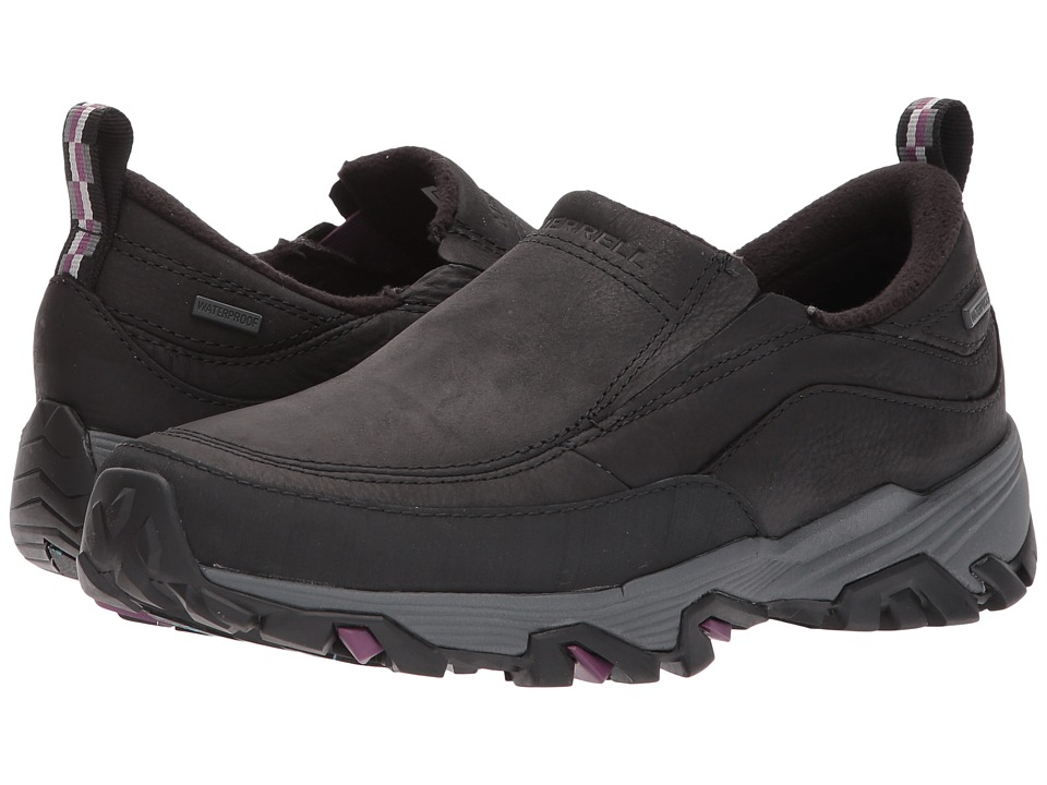 Merrell Coldpack Ice+ Moc Waterproof (Black) Women's Shoes