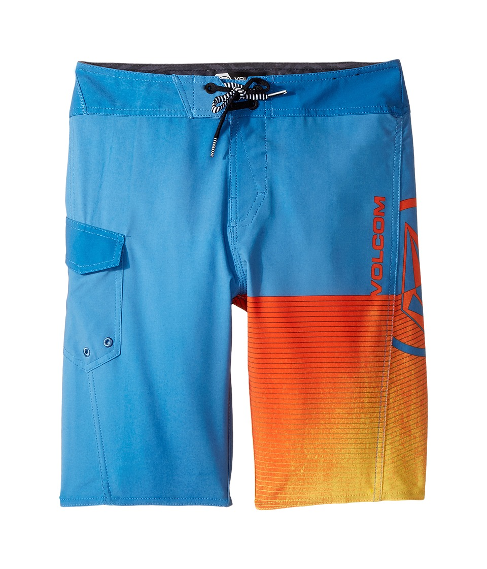 Volcom Kids Costa Logo Mod Boardshorts (Big Kids) (Mayan Blue) Boy