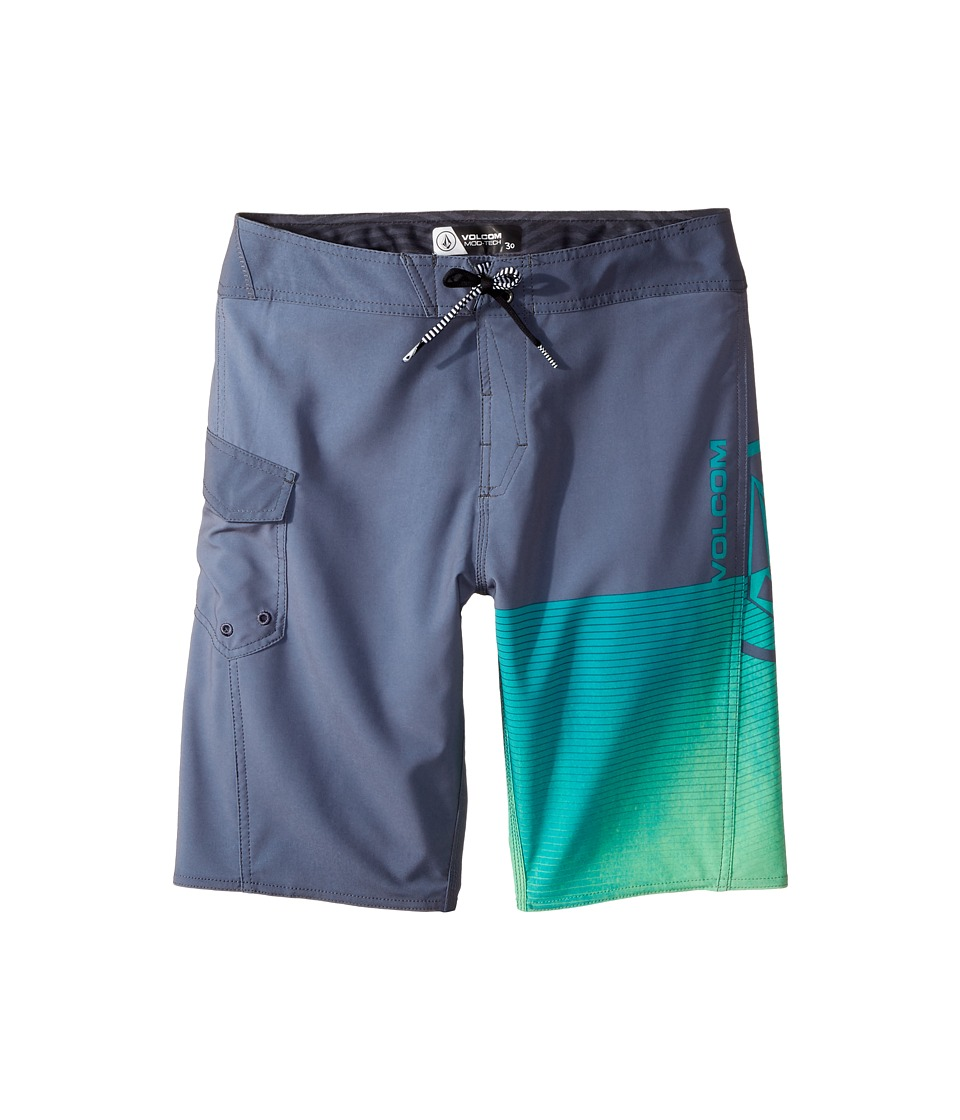 Volcom Kids Costa Logo Mod Boardshorts (Big Kids) (Dusk Grey) Boy