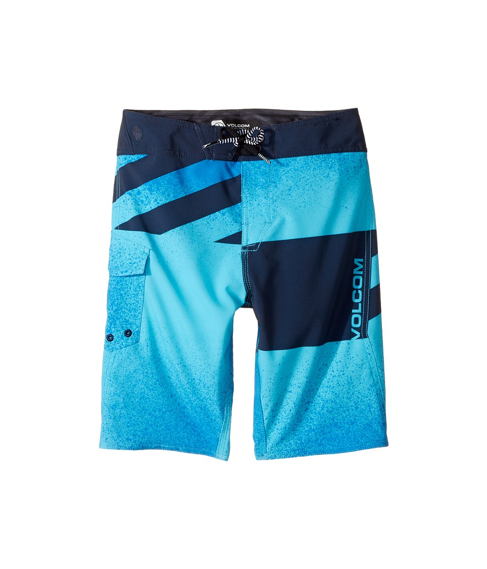 Volcom Kids Logo Party Pack Mod Boardshorts (Big Kids) (Aqua) Boy