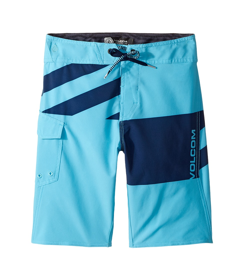 Volcom Kids Logo Party Pack Mod Boardshorts (Big Kids) (Dusty Aqua) Boy