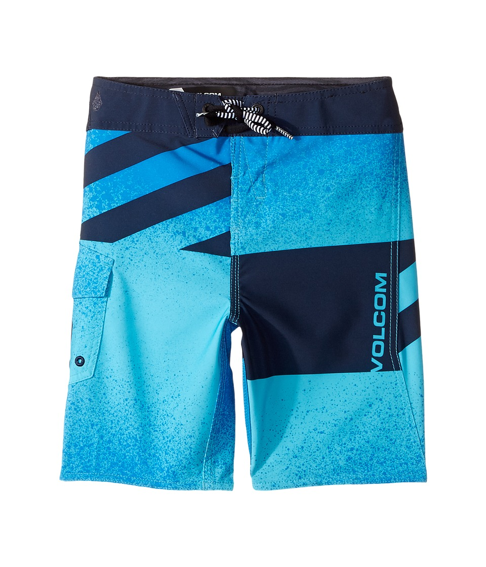 Volcom Kids Logo Party Pack Mod Boardshorts (Toddler/Little Kids) (Aqua) Boy
