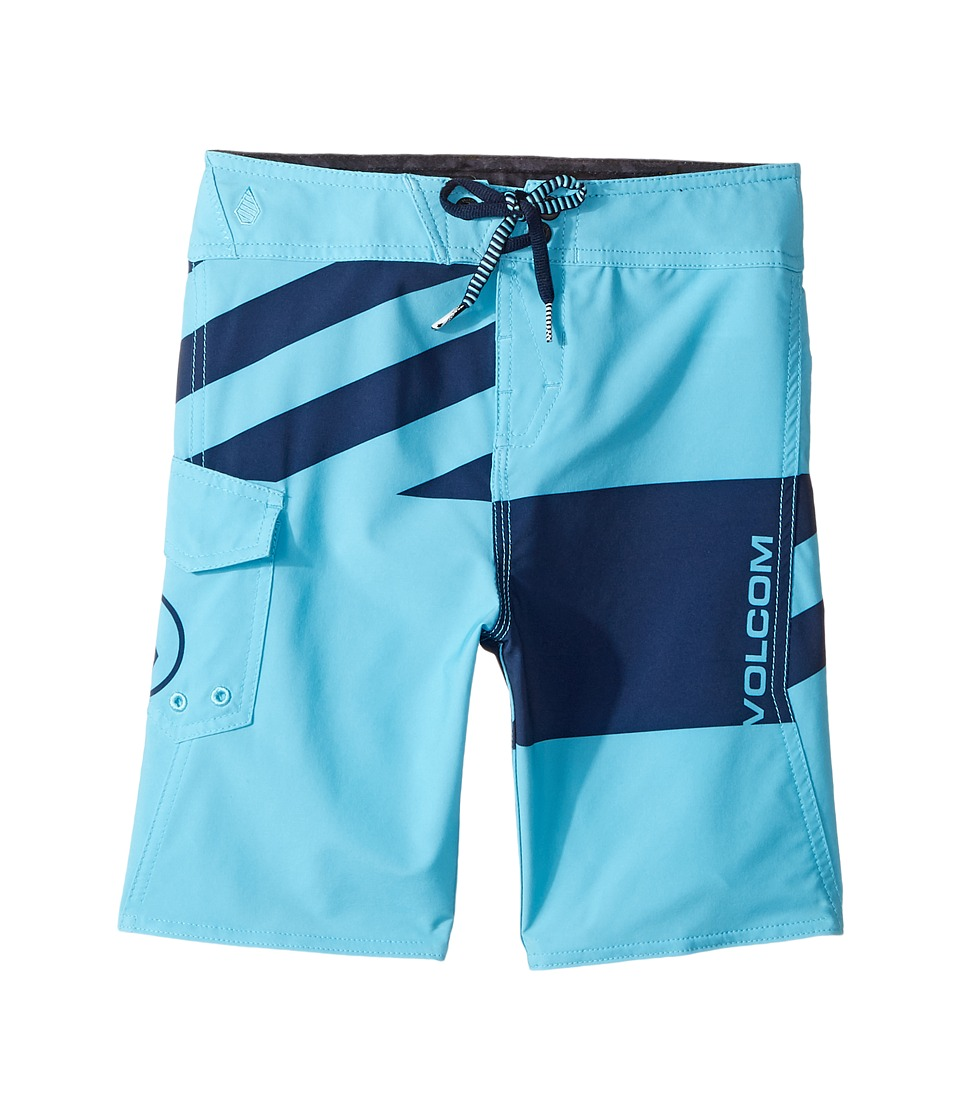 Volcom Kids Logo Party Pack Mod Boardshorts (Toddler/Little Kids) (Dusty Aqua) Boy