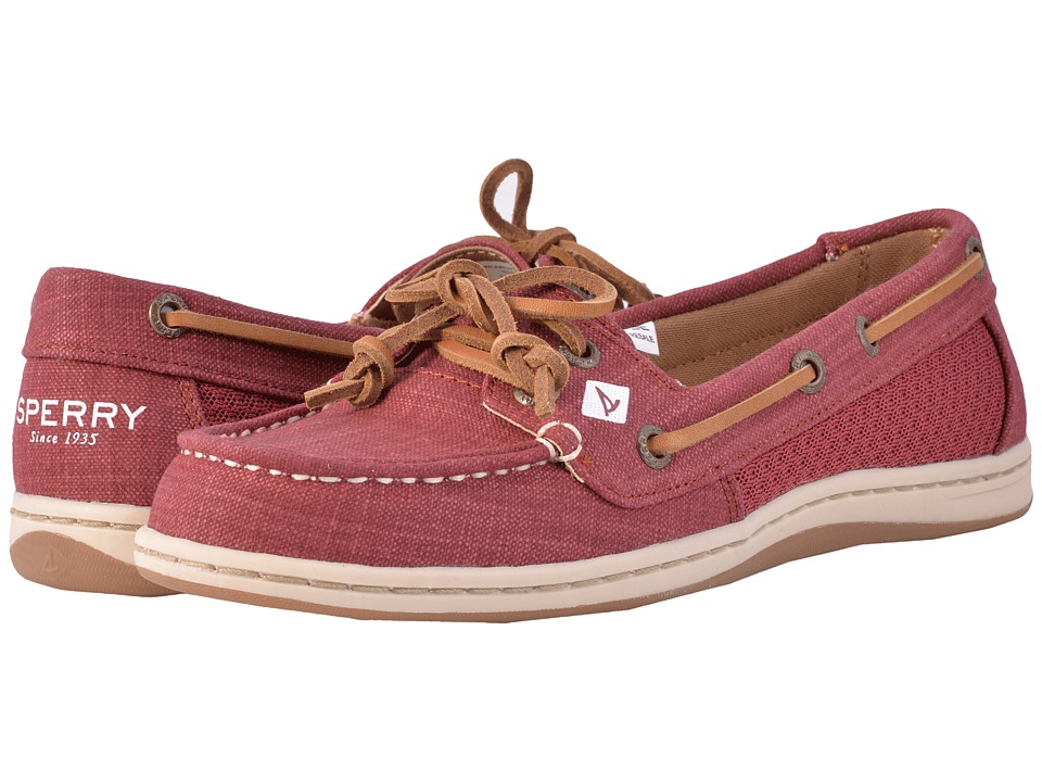 Sperry Firefish Scratch Linen (Rosewood) Women