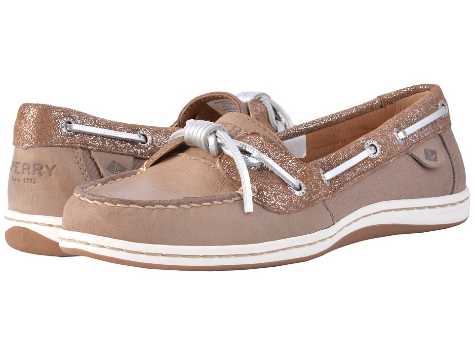 Sperry Barrelfish Metallic (Taupe/Vapor) Women