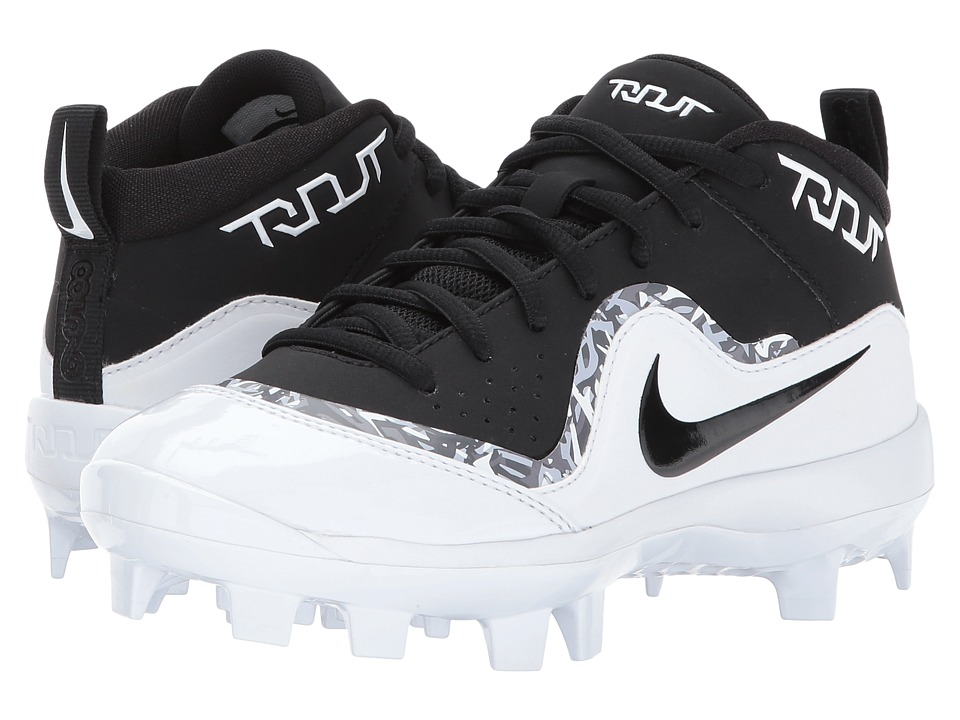 Nike Kids Trout Pro MCS Baseball Cleat (Toddler/Little Kid/Big Kid) (Black/White/White) Boys Shoes
