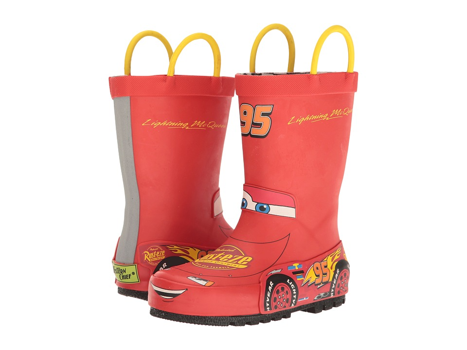 Western Chief Kids Lightning McQueen Rain Boots (Toddler/Little Kid/Big Kid) (Red) Boys Shoes