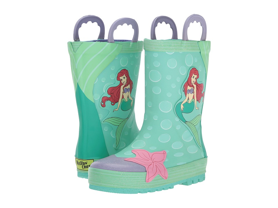 Western Chief Kids Ariel Rain Boots (Toddler/Little Kid/Big Kid) (Aqua) Girls Shoes