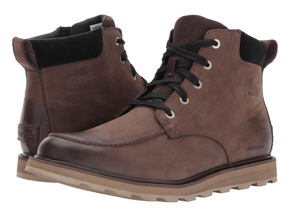 SOREL - Madson Moc Toe Waterproof (Bruno/Black) Mens Waterproof Boots