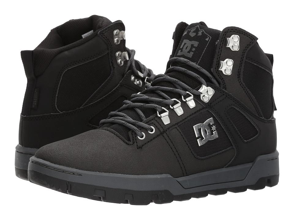 DC Spartan High WR Boot (Black/Black/Dark Grey) Men