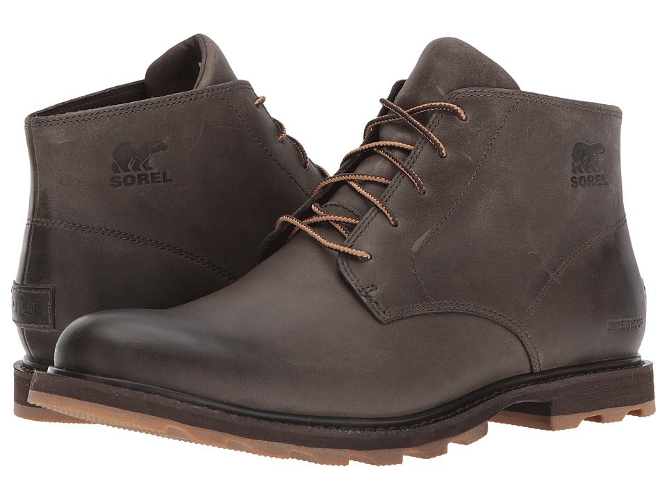 SOREL - Madson Chukka Waterproof (Major/Cordovan) Mens Waterproof Boots