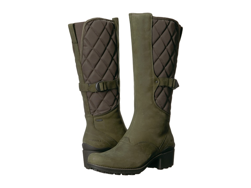 Merrell Chateau Tall Pull Waterproof (Dusty Olive) Women