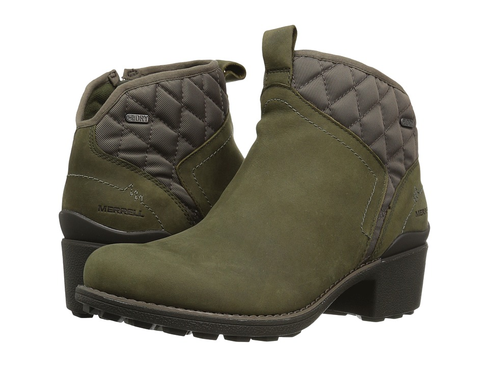 Merrell Chateau Mid Pull Waterproof (Dusty Olive) Women's Waterproof Boots