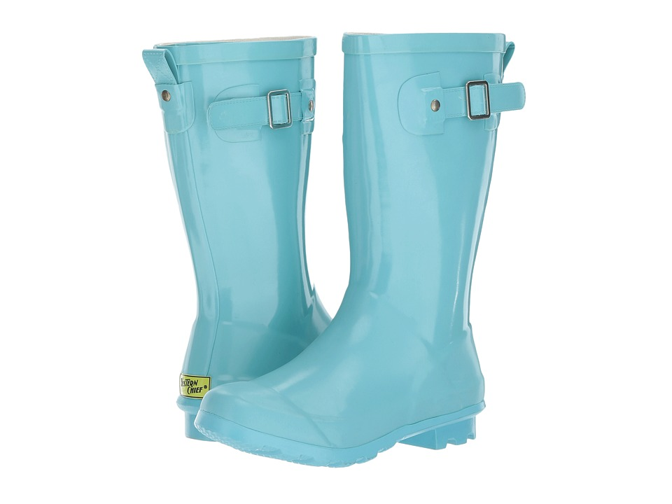 Western Chief Kids Classic Tall Rain Boots (Little Kid/Big Kid) (Aqua) Girls Shoes