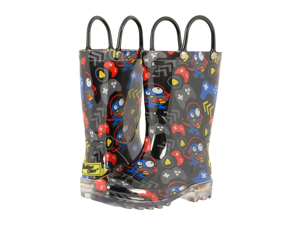 Western Chief Kids Gamer Lighted Rain Boots (Toddler/Little Kid) (Black) Boys Shoes