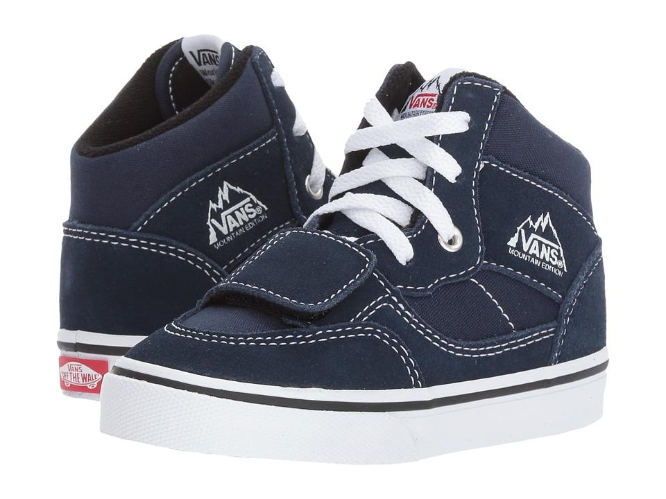 Vans Kids Mountain Edition (Toddler) ((Canvas + Suede) Dress Blues) Boys Shoes