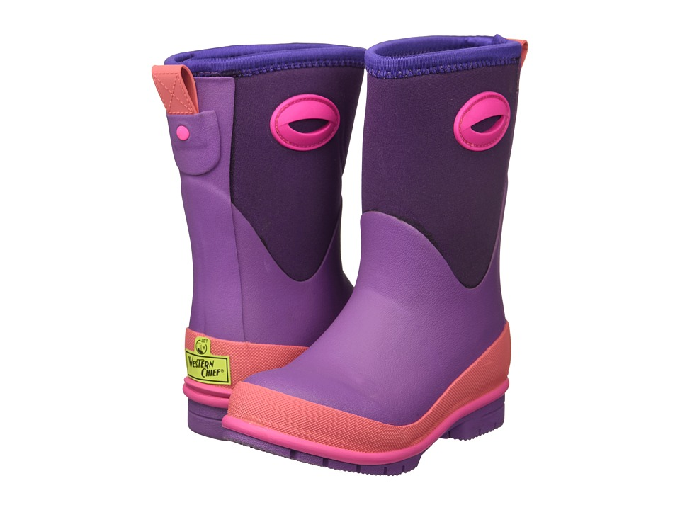 Western Chief Kids Neoprene Boots (Toddler/Little Kid/Big Kid) (Purple) Girl's Shoes
