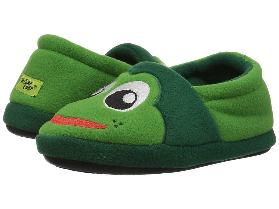 Western Chief Kids Fritz Slippers (Toddler/Little Kid) (Green) Kids Shoes