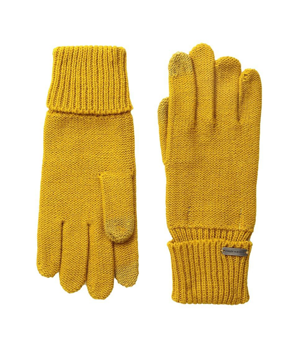 Steve Madden Solid Boyfriend Gloves (Mustard) Extreme Cold Weather Gloves