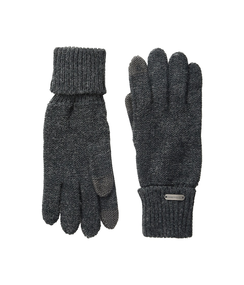 Steve Madden Solid Boyfriend Gloves (Charcoal) Extreme Cold Weather Gloves
