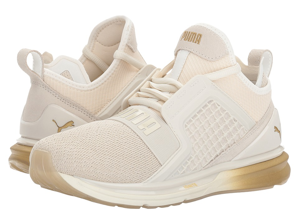 PUMA - Ignite Limitless Metallic (Whisper White/Gold) Womens Shoes