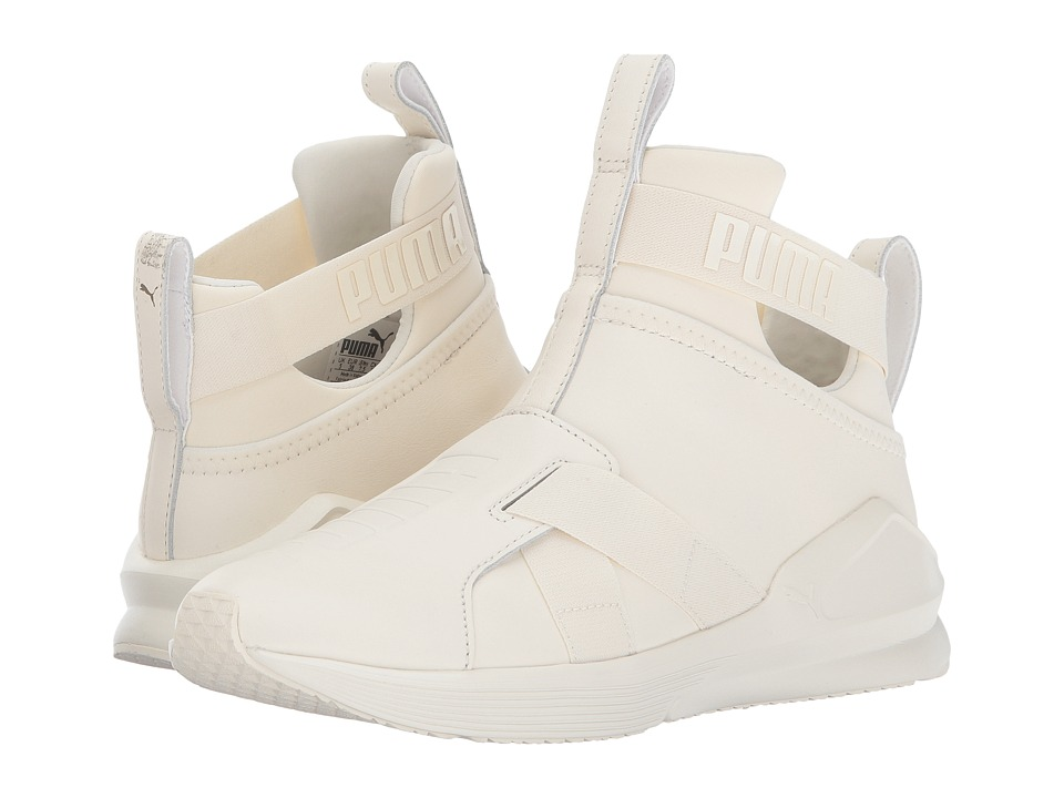 PUMA - Fierce Strap Leather (Whisper White) Womens Shoes