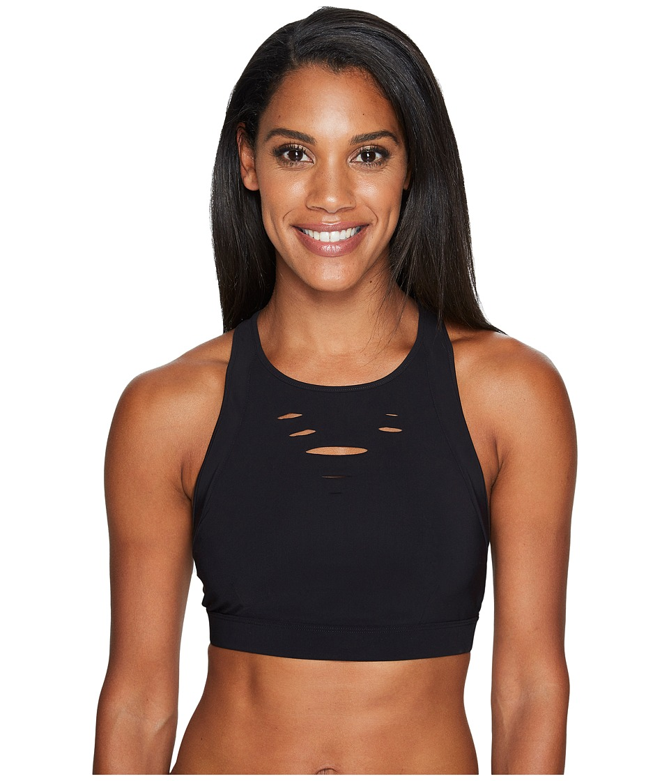 ALO Ripped Warrior Bra (Black) Women