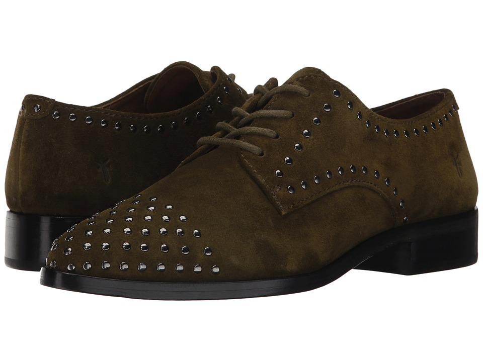 Frye Erica Stud Oxford (Khaki Soft Oiled Suede) Women