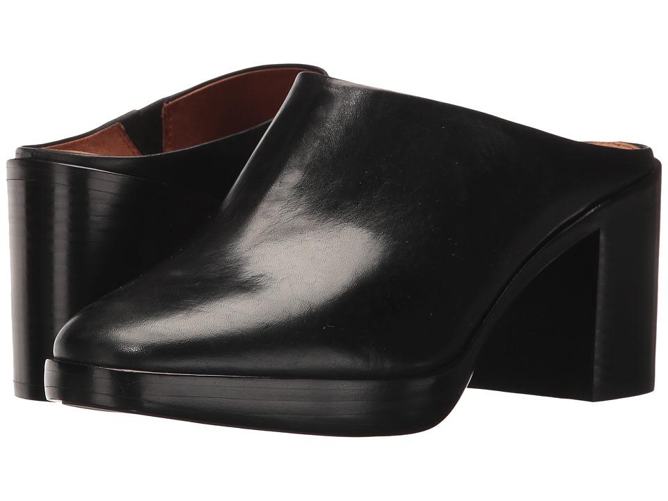 Frye Joan Campus Mule (Black Smooth Antique Pull Up) High Heels